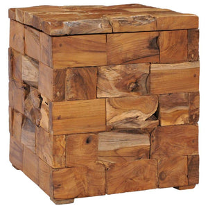 Storage Stool Solid Teak Wood