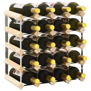 Wine Rack for 20 Bottles Solid Pinewood