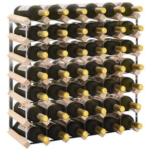 Wine Rack for 42 Bottles Solid Pinewood