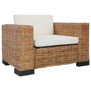 Armchair with Cushions Natural Rattan sku 283081