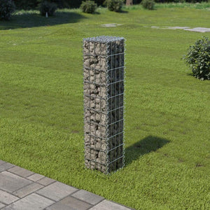 Gabion Wall with Covers Galvanised Steel 20x20x100 cm