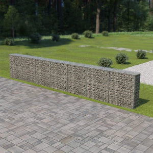 Gabion Wall with Covers Galvanised Steel 600x30x100 cm