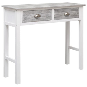 Console Table Grey 90x30x77 cm Wood