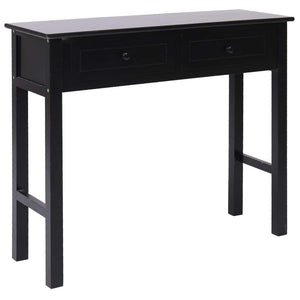 Console Table Black 90x30x77 cm Wood