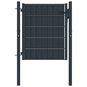 Fence Gate Steel 100x101 cm Anthracite