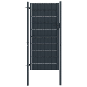 Fence Gate Steel 100x204 cm Anthracite