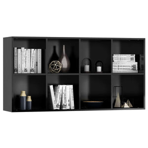 Book Cabinet/Sideboard High Gloss Black 66x30x130 cm Chipboard
