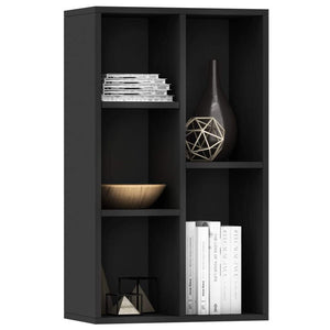 Book Cabinet/Sideboard Black 45x25x80 cm Chipboard