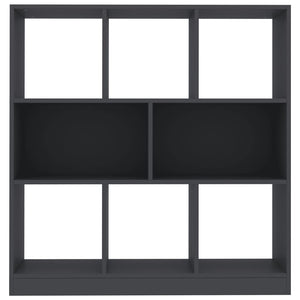 Book Cabinet Grey 97.5x29.5x100 cm Chipboard