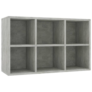 Book Cabinet/Sideboard Concrete Grey 66x30x97.8 cm Chipboard