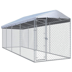 Outdoor Dog Kennel with Roof 760x190x225 cm