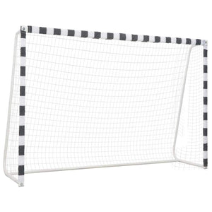 Soccer Goal 300x200x90 cm Metal Black and White