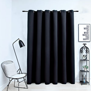 Blackout Curtain with Metal Rings Black 290x245 cm - sku 134413