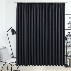 Blackout Curtain with Hooks Black 290x245 cm - sku 134417