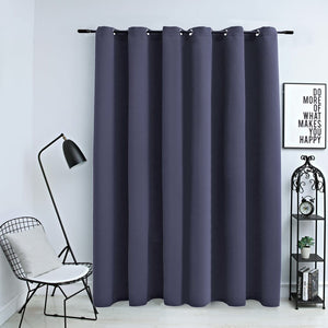 Blackout Curtain with Metal Rings Anthracite 290x245 cm - sku 134421