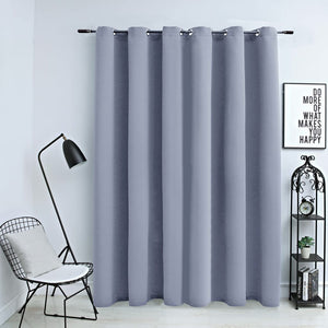Blackout Curtain with Metal Rings Grey 290x245 cm - sku 134429