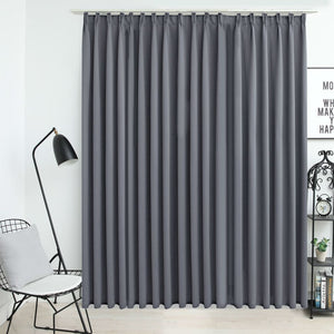 Blackout Curtain with Hooks Grey 290x245 cm - sku 134433