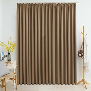 Blackout Curtain with Hooks Taupe 290x245 cm - sku 134441