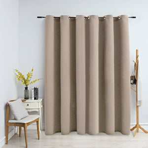 Blackout Curtain with Metal Rings Beige 290x245 cm - sku 134445