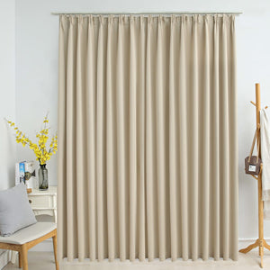 Blackout Curtain with Hooks Beige 290x245 cm - sku 134449