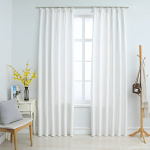 Blackout Curtains with Hooks 2 pcs Off White 140x225 cm - sku 134486
