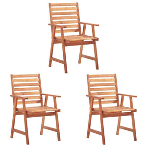 Outdoor Dining Chairs 3 pcs Solid Acacia Wood
