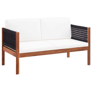 Garden Sofa 2-Seater Solid Acacia Wood