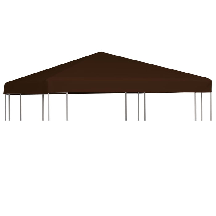 Gazebo Top Cover 310 g/m² 3x3 m Brown