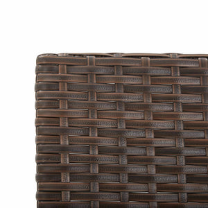 Garden Bench with Cushions 176 cm Brown Poly Rattan
