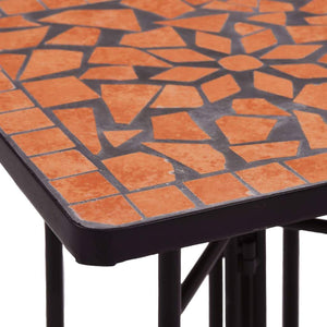 Mosaic Side Table Terracotta Ceramic