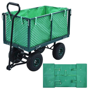 Garden Cart Liner Green Fabric sku-145729