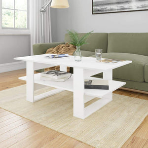 Coffee Table White 110x55x42 cm Chipboard