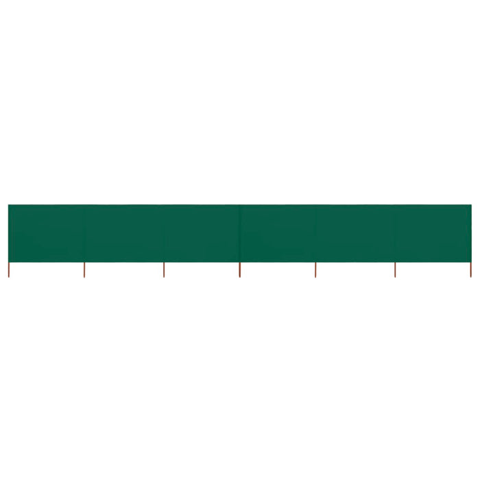 6-panel Wind Screen Fabric 800x120 cm Green