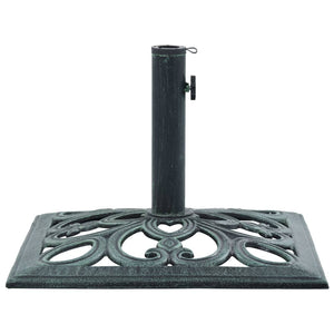 Umbrella Base Green 12 kg 49 cm Cast Iron