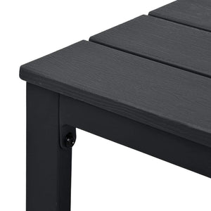 Coffee Table Black 98x48x39 cm HDPE Wood Look
