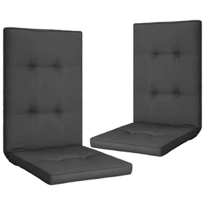 Garden Chair Cushions 2 pcs Anthracite 120x50x5 cm