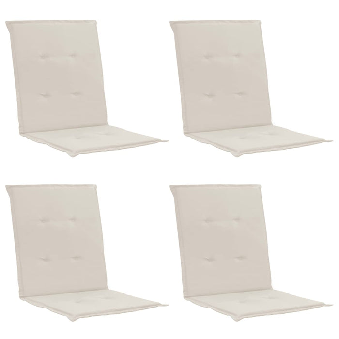 Garden Chair Cushions 4 pcs Cream 100x50x3 cm