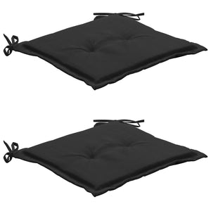 Garden Chair Cushions 2 pcs Black 50x50x3 cm