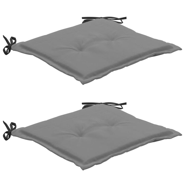 Garden Chair Cushions 2 pcs Black and Grey 50x50x3 cm