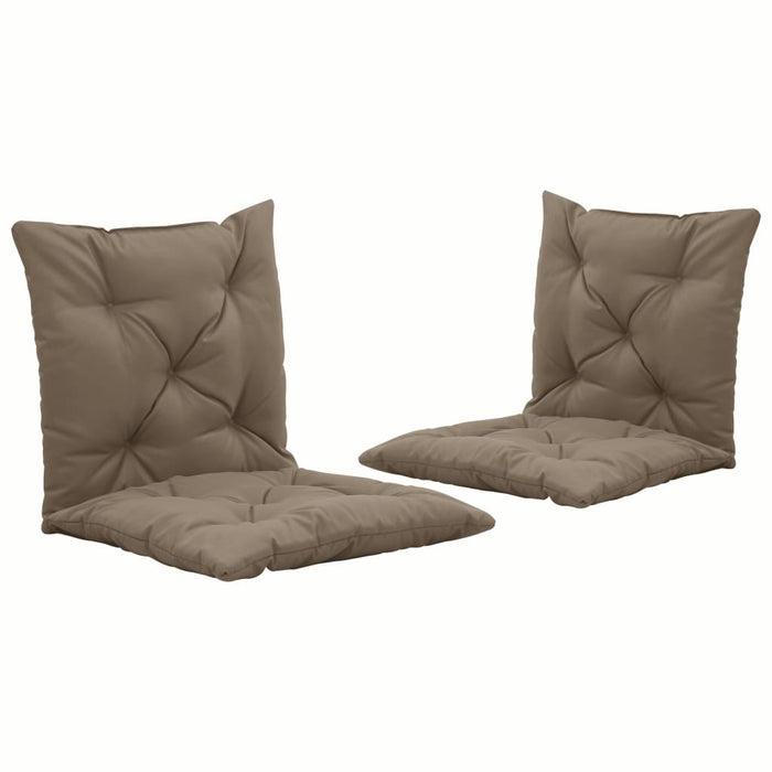 Swing Chair Cushions 2 pcs Taupe 50 cm Fabric