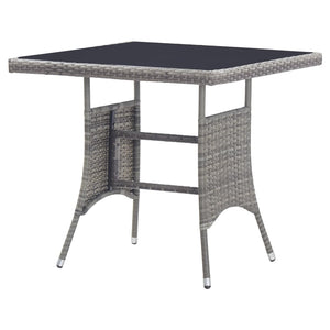 Garden Table Anthracite 80x80x74 cm Poly Rattan