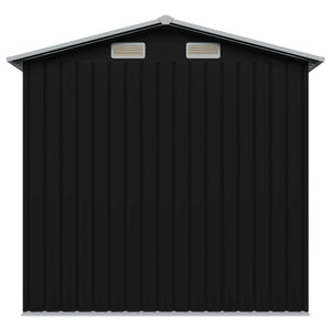 Garden Storage Shed Anthracite Steel 204x132x186 cm