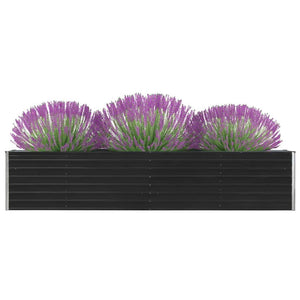 47055 Garden Raised Bed Galvanised Steel 320x40x45 cm Anthracite