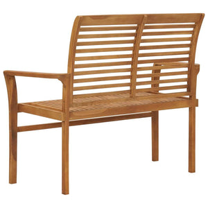 Garden Bench 112 cm Solid Teak Wood