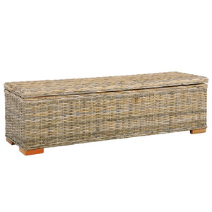 Storage Box 120 cm Kubu Rattan and Solid Mango Wood - sku 285799