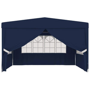 Professional Party Tent with Side Walls 4x4 m Blue 90 g/m²