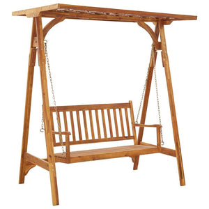 Garden Swing Bench with Trellis Solid Acacia Wood