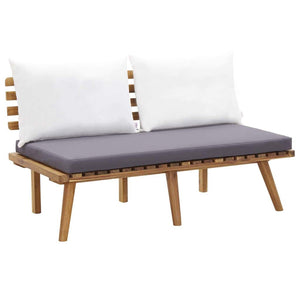 Garden Bench with Cushions 115 cm Solid Acacia Wood