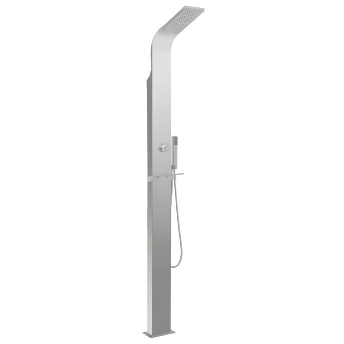 Outdoor Shower Stainless Steel Curved