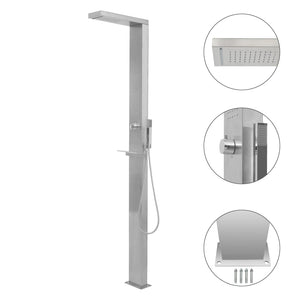 Outdoor Shower Stainless Steel Square
